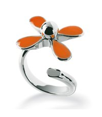 JRO004-6 Flowerlyric Orange Ring