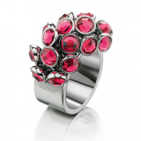 Swatch Bijoux Love Explosion Pink Crystals Ring リング