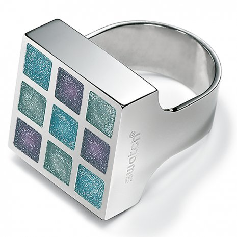 Swatch Bijoux Prismatic Blue Silicon Ring リング