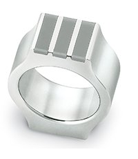 JRM021-9 Shake Up Grey Ring