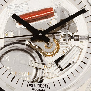Skeleton Swatch Watch with White Dial 秋冬 コレクション Swatch