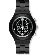 SVCF4001AG Full-Blooded Black Skull 43mm