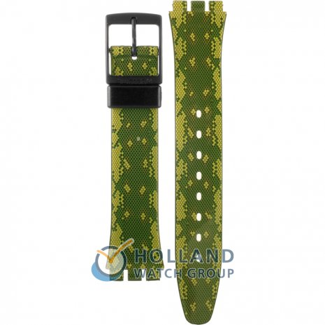 Swatch GB253 Snaky Green ストラップ