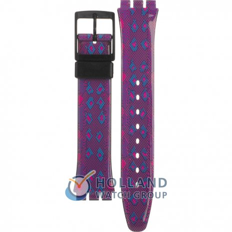 Swatch GB256 Snaky Purple ストラップ