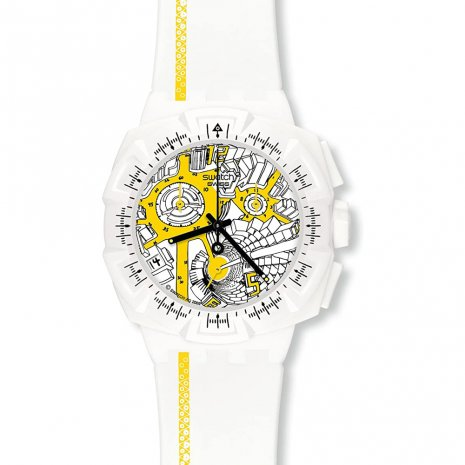 Swatch Street Map Yellow 時計