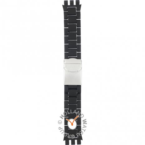 Swatch YYS4020AG Black Attack ストラップ